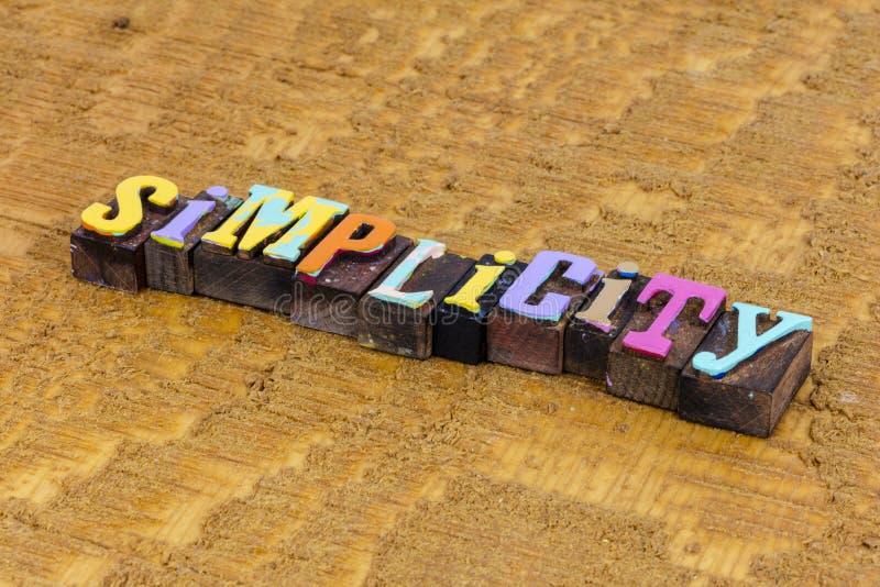 Prostota prosty abstrakcyjny pomysł sukces kreatywne szybkie rozwiązanie zdjęcia stock