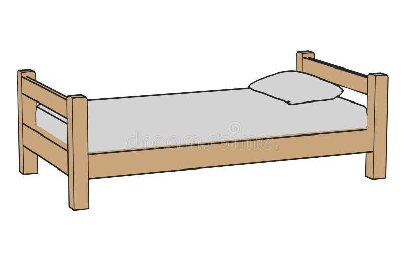 Prosty łóżko royalty ilustracja