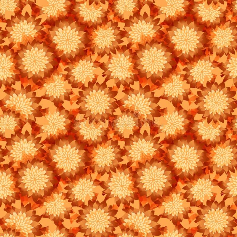 Prosty śliczny wzór w abstrakcjonistycznych kwiatach Ditsy druk bezszwowy kwiecisty tła Moda druki ilustracja wektor