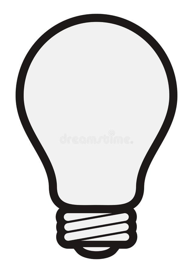 prosty żarówki światło ilustracja wektor