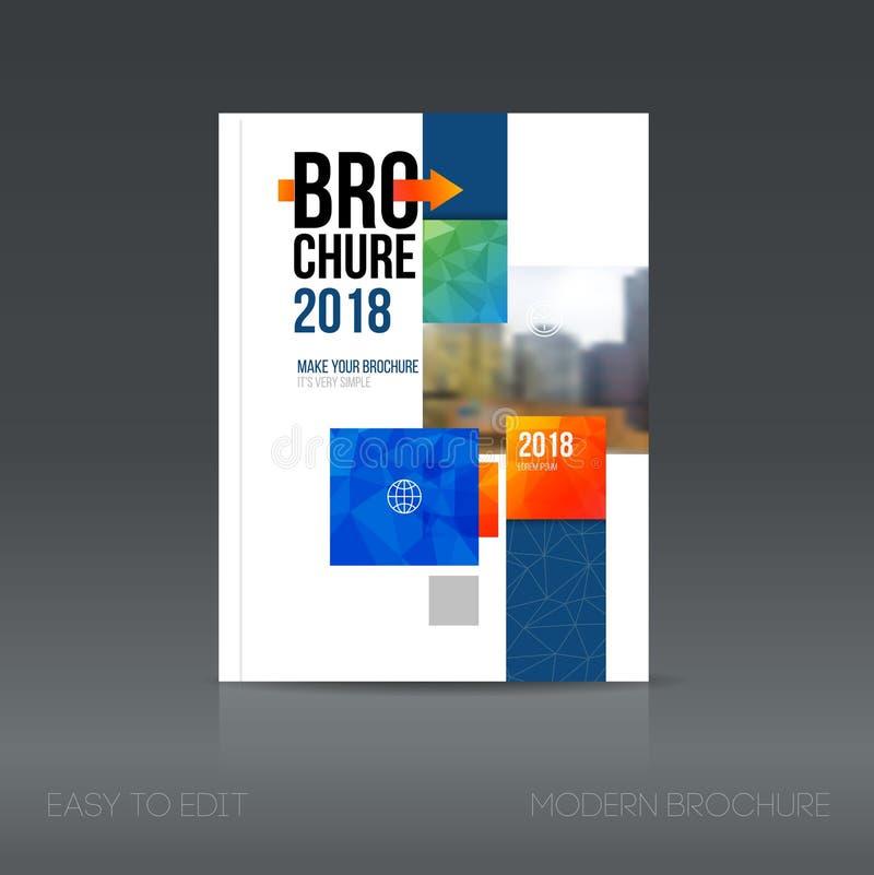 Prosty architektury broszurki styl Budynek ulotki promocja royalty ilustracja