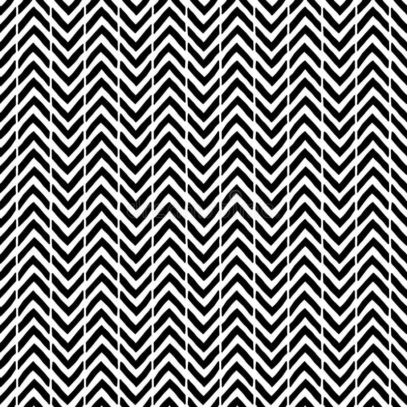 Prosty bezszwowy abstrakta wzór Czarny i biały druk paski royalty ilustracja
