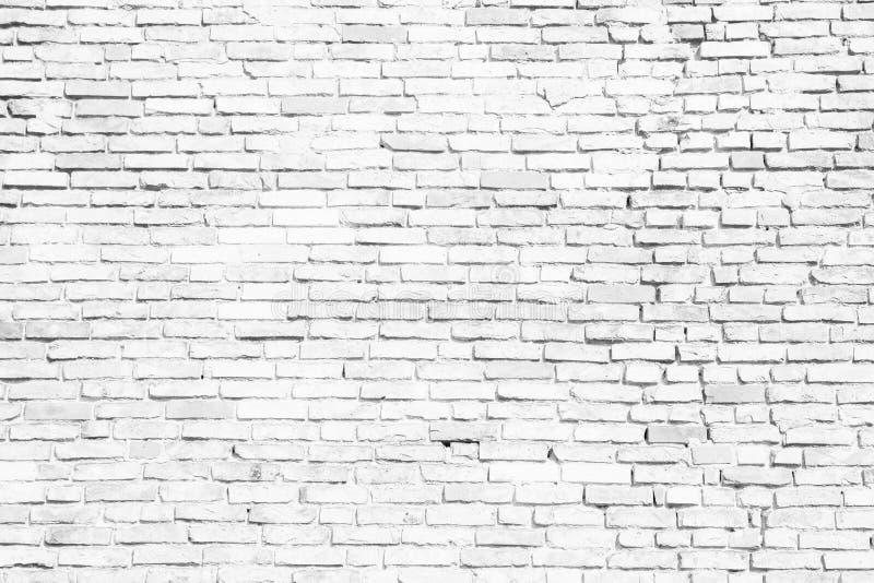 Prosty biały i popielaty ściana z cegieł jako bezszwowy deseniowy tekstury tło fotografia stock