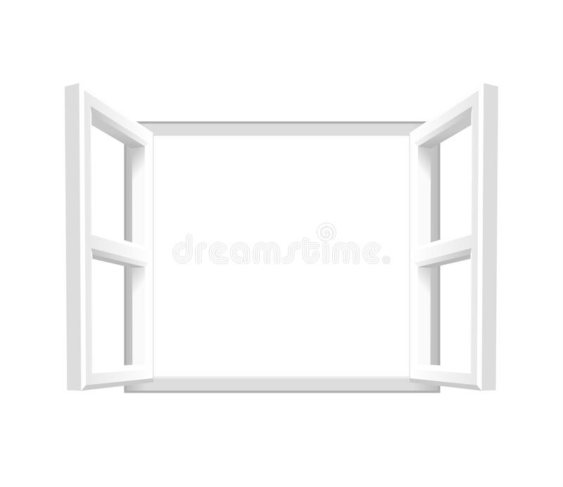 Prosty Biały otwartego okno â€' Dodaje twój swój tekst lub wizerunek royalty ilustracja