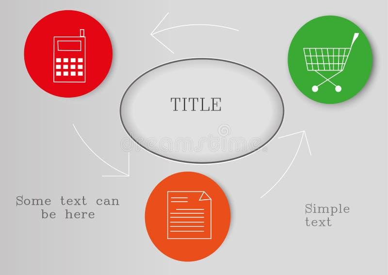 Prosty biznesowy infographic zdjęcie stock
