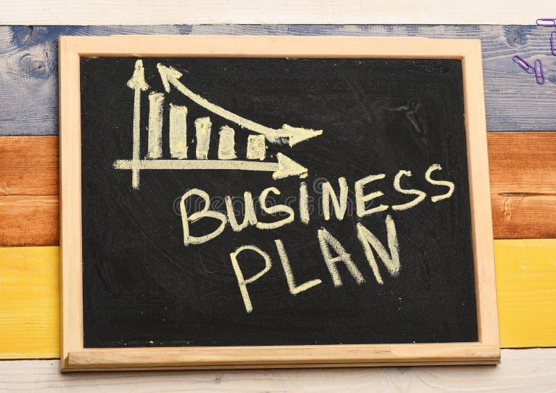Prosty biznesowy zmniejszanie wykres Planu biznesowego pojęcie zdjęcie royalty free