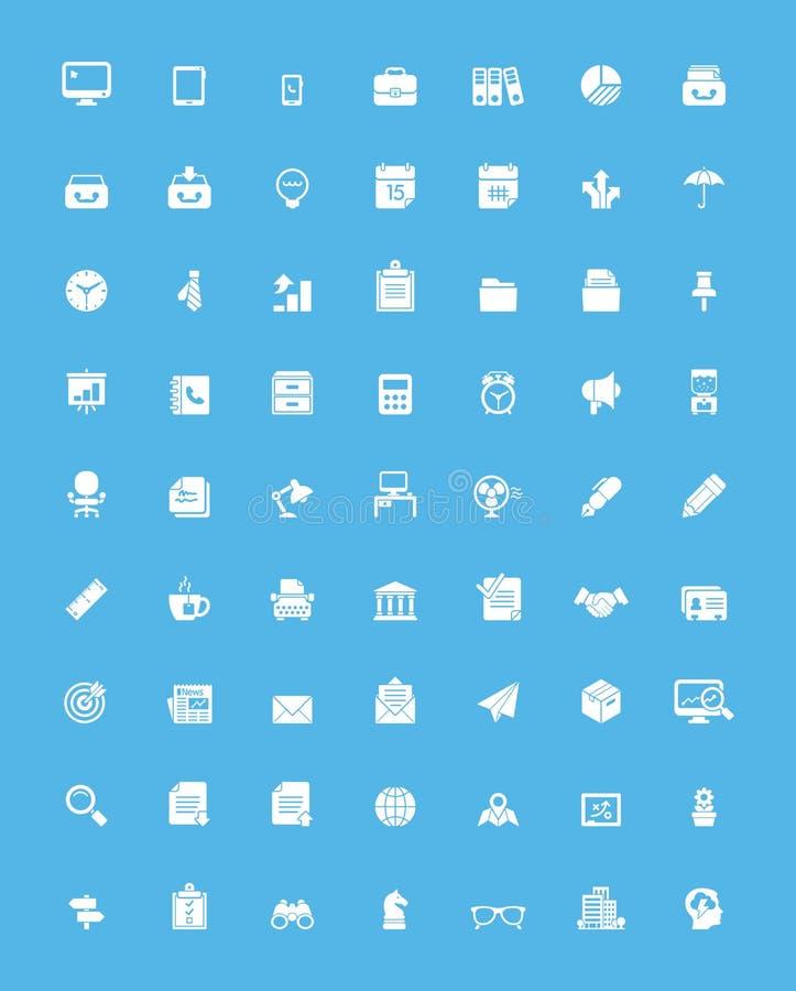 Prosty biznesu i biura ikony set royalty ilustracja