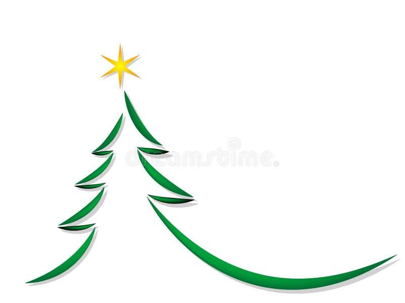 prosty Bożego Narodzenia drzewo ilustracji