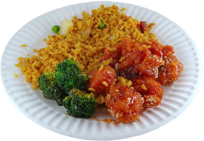 prosty chińskiej potrawy obrazy stock
