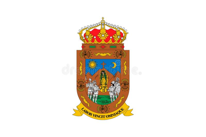 Prosty chorągwiany stan Meksyk royalty ilustracja