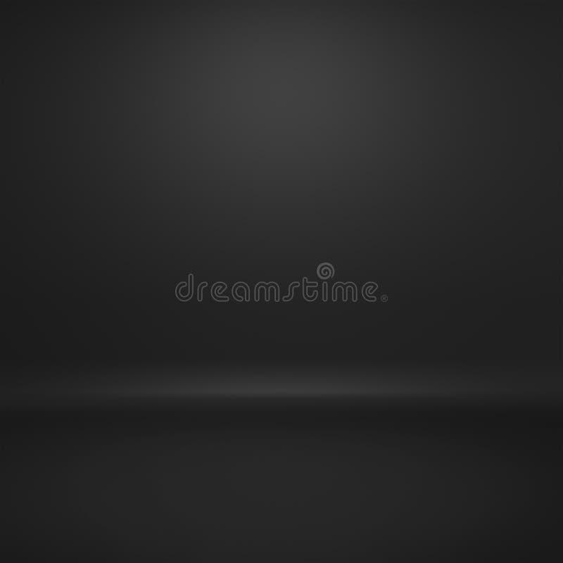 Prosty czarny gradientowy abstrakcjonistyczny tło używa my produktu lub teksta tła projekt ilustracja wektor