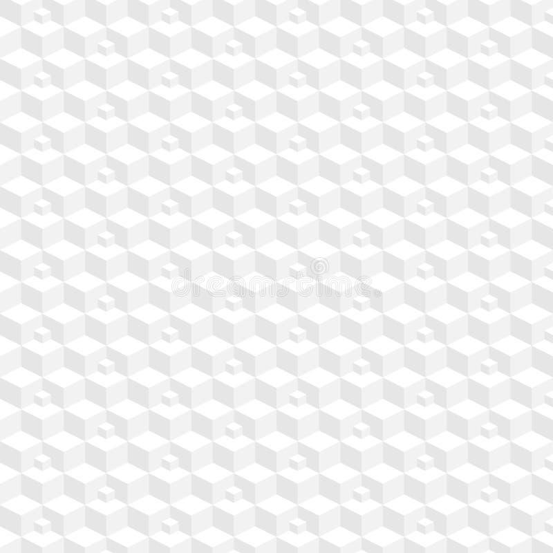 Prosty 3d abstrakcjonistyczny geometryczny tło w lekkich kolorach Bezszwowy deseniowy t?o wektor ilustracja wektor
