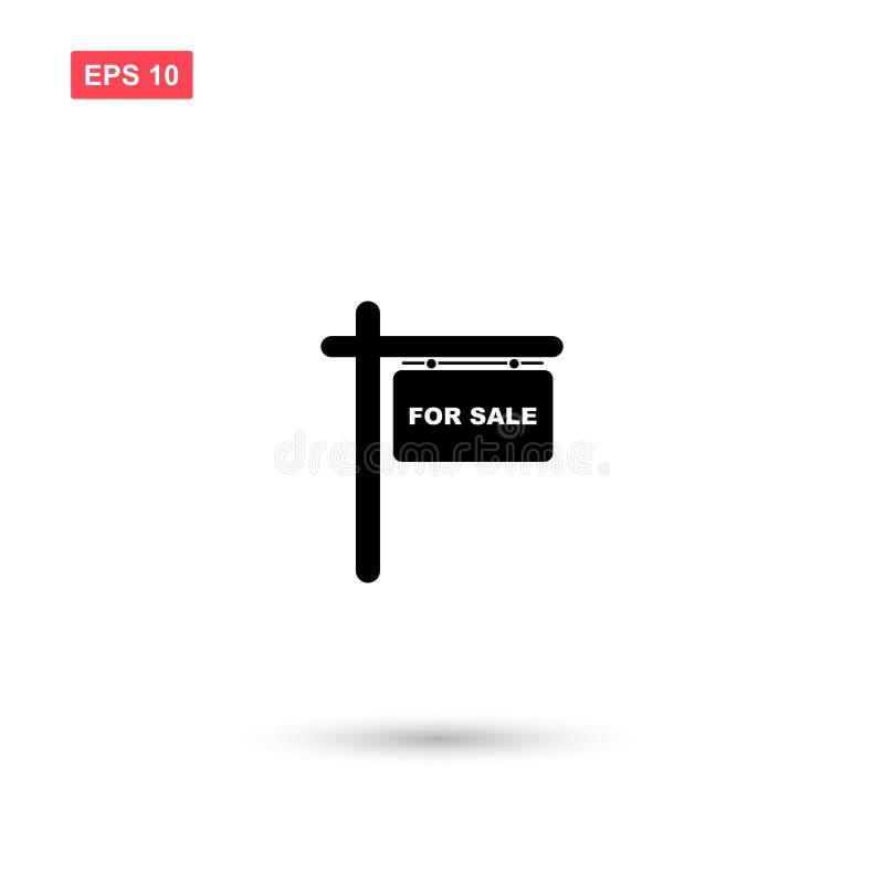 Prosty dla sprzedaż znaka wektoru odizolowywającego ilustracja wektor