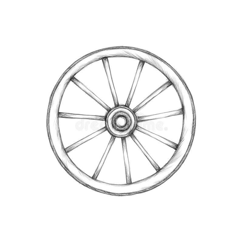 Prosty furgonu koło ilustracja wektor
