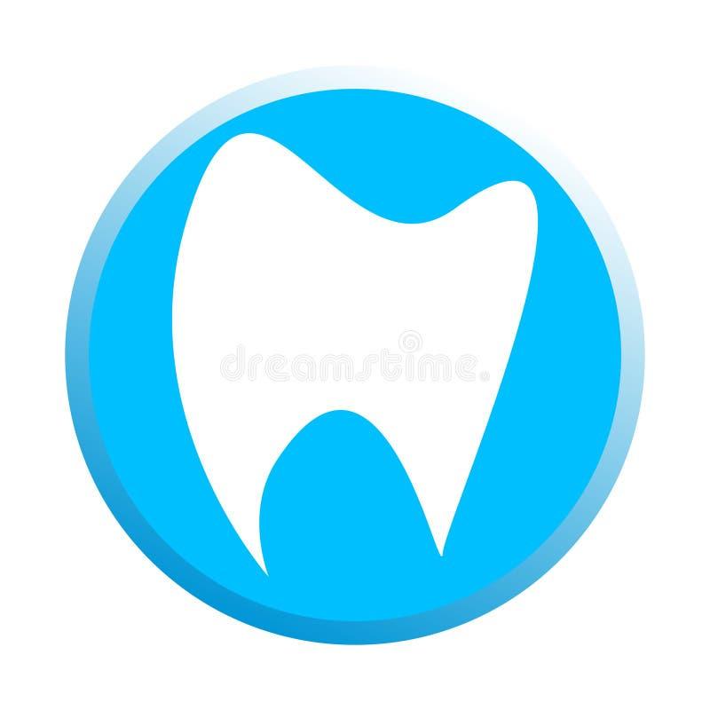 Prosty genialny projekt logotyp stomatologiczna klinika ilustracja wektor