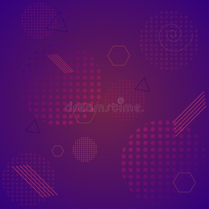 Prosty geometryczny abstrakcjonistyczny tło Gradientowy tło szablonu tło dla twój projekta ilustracji