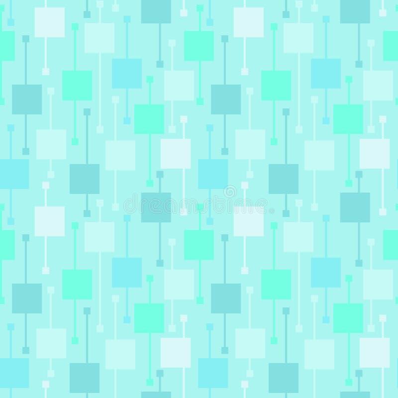 Prosty geometryczny b??kit obciosuje i wyk?ada na lekkim tle Zimni abstrakcjonistyczni wektorowi bezszwowi wzory dla tkaniny, dru ilustracja wektor