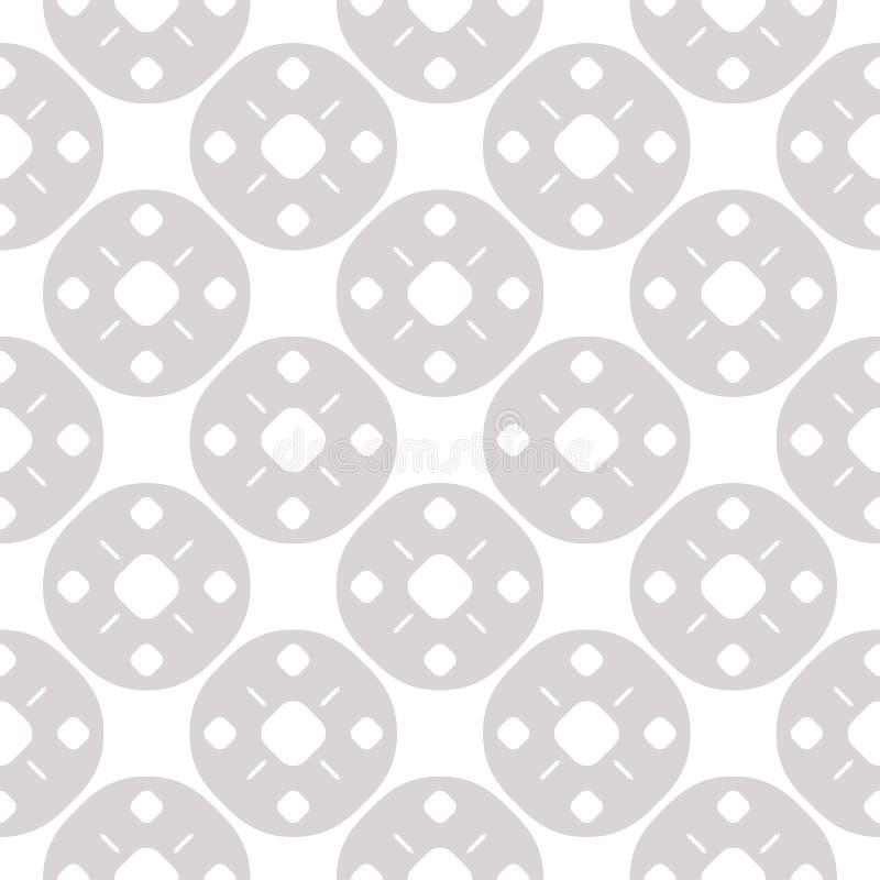 Prosty geometryczny bezszwowy wz?r z ma?ymi liniami i kropkami w k??kowej siatce royalty ilustracja