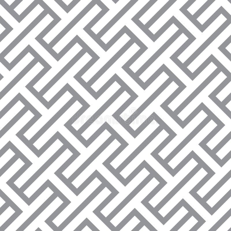 Prosty geometryczny wektorowy bezszwowy monochromu wzór - szary figura royalty ilustracja