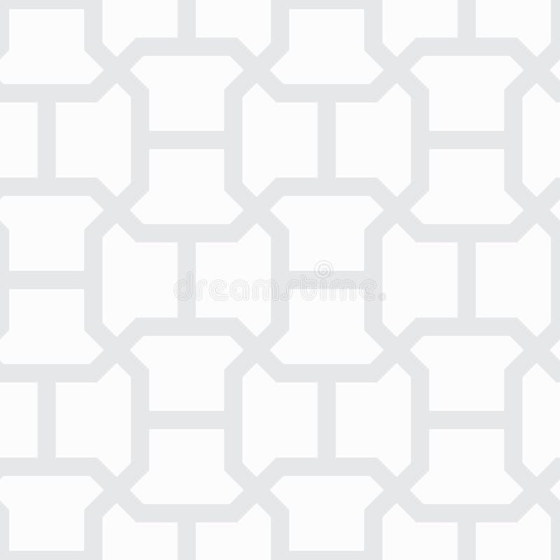 Prosty geometryczny wektoru wzór - szarość wykłada na białym tle ilustracja wektor