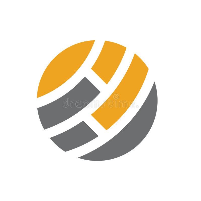 Prosty i czysty abstrakcjonistyczny ikona logo ilustracja wektor