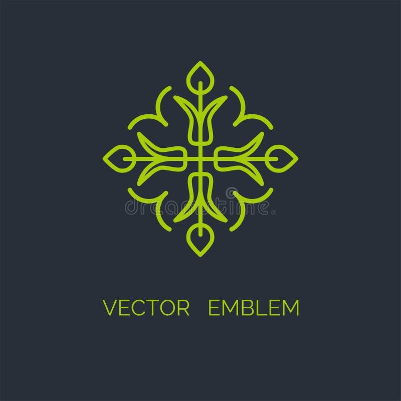Prosty i elegancki monograma projekta szablon ilustracja wektor