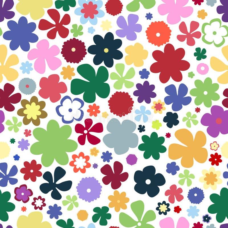 Prosty i piękno kwiatu bezszwowy wzór royalty ilustracja