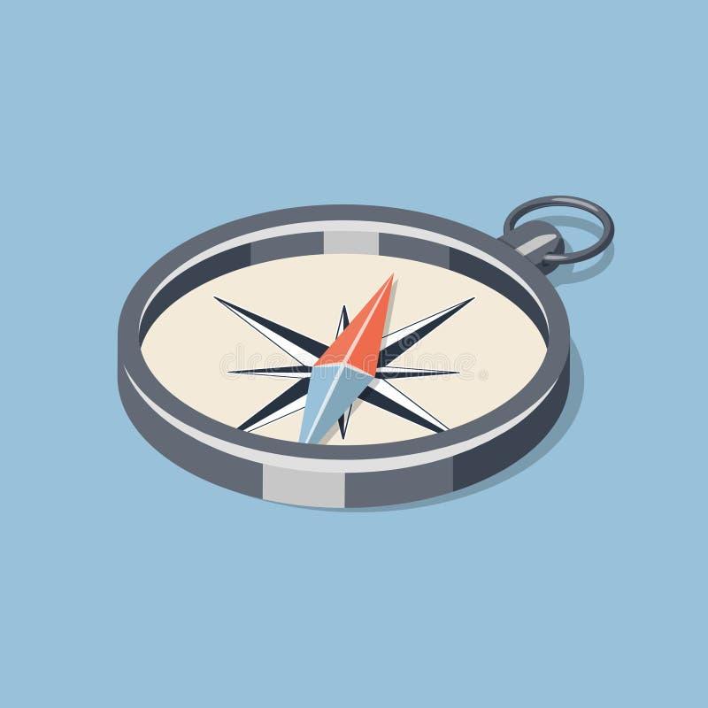 Prosty isometric kompas royalty ilustracja