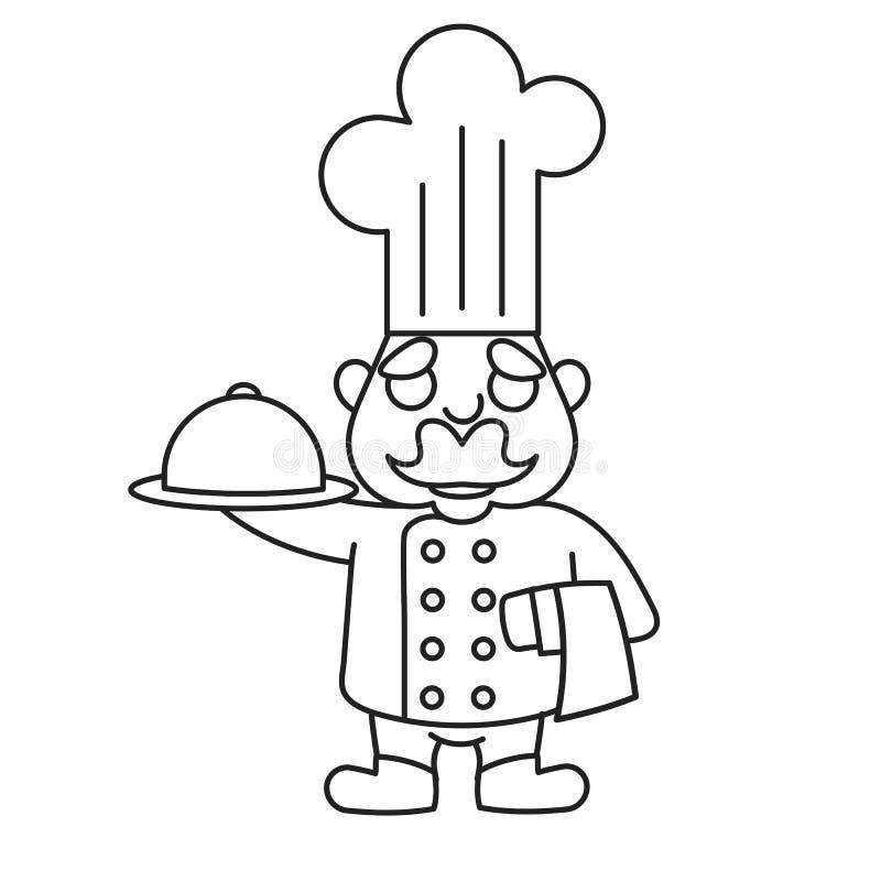 Prosty kreskówki samiec kucharz ilustracji