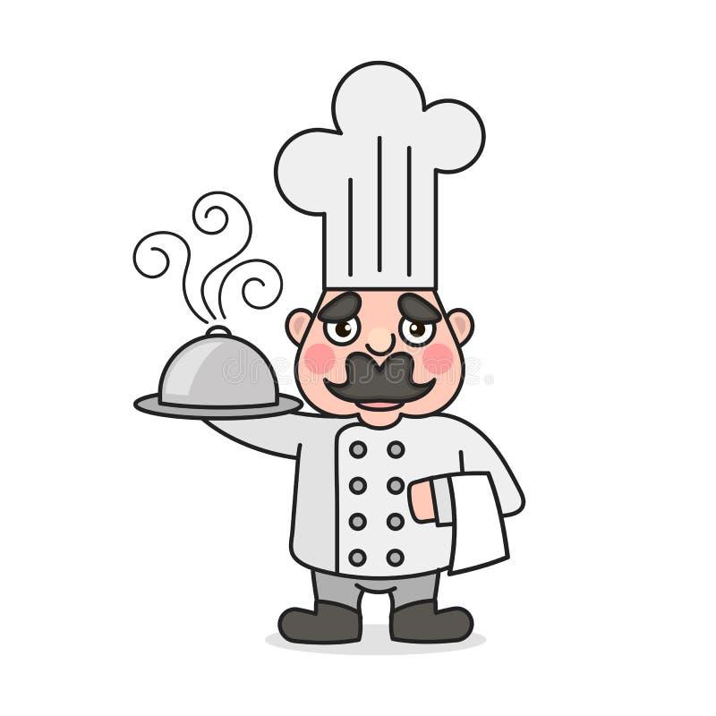Prosty kreskówki samiec kucharz ilustracja wektor