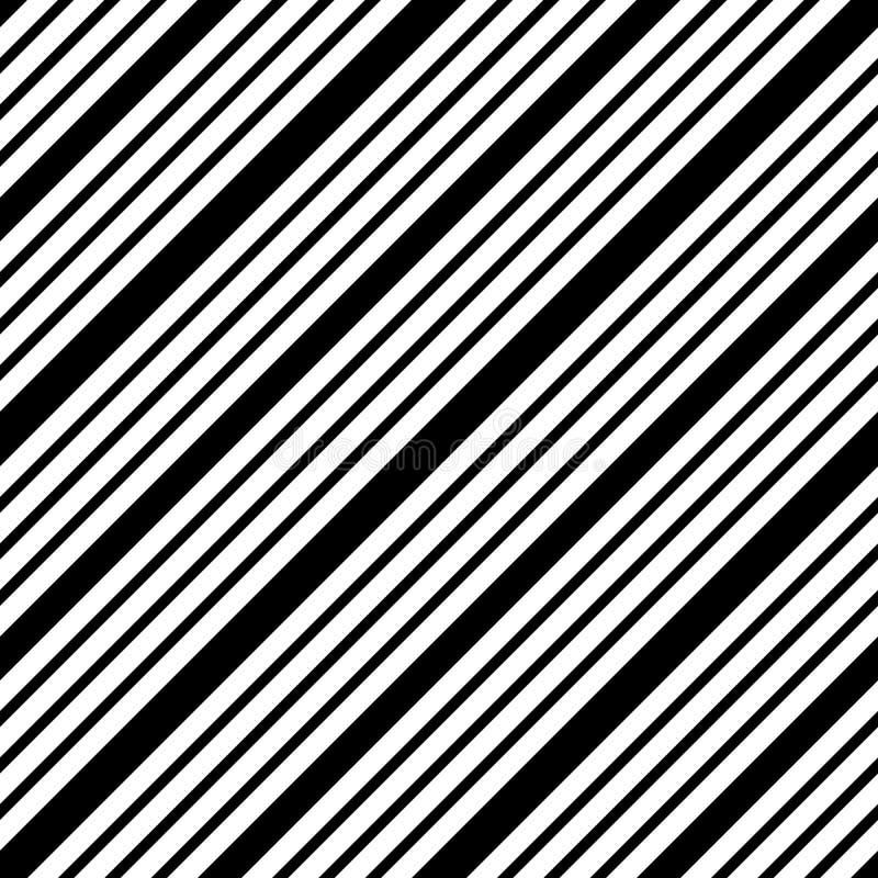 Prosty kreskowy bezszwowy wektorowy czarny i biały wzór royalty ilustracja