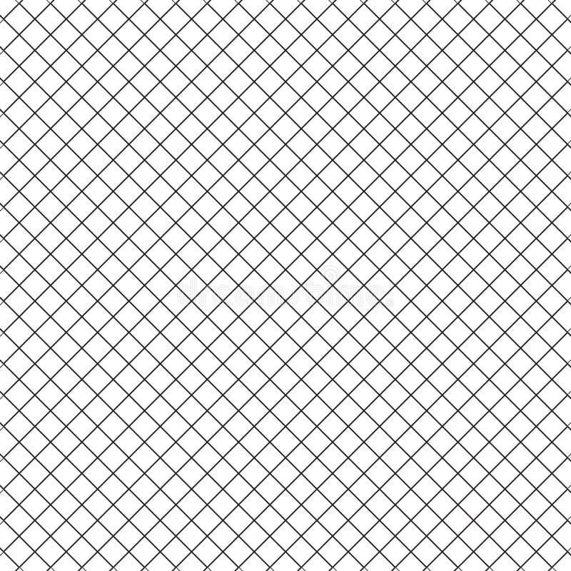 Prosty Kreskowy sześcianu kwadrata siatki ogrodzenia wzoru tło ilustracja wektor