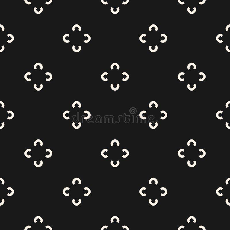 Prosty kwiecisty wzór Wektorowa minimalistyczna kwiat tekstura ilustracja wektor