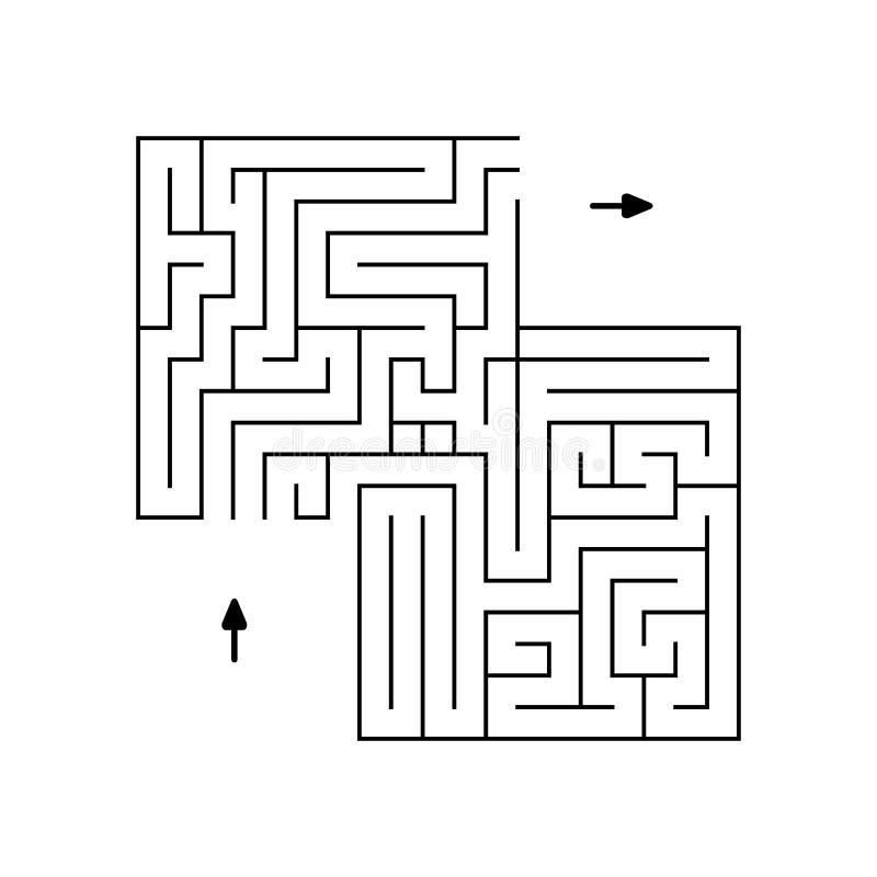 Prosty labitynt czerń wykłada z dwa strzała jest może projektant wektor evgeniy grafika niezależny kotelevskiy przedmiota orygina ilustracja wektor