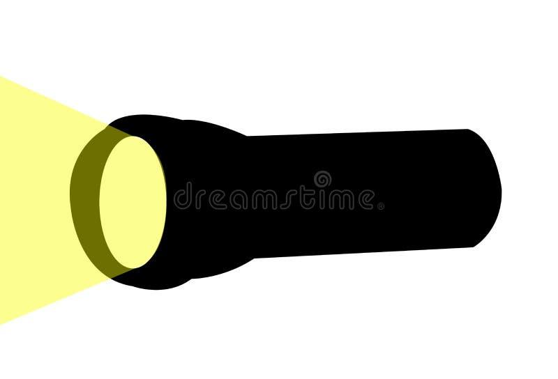 Prosty latarka projekt ilustracja wektor