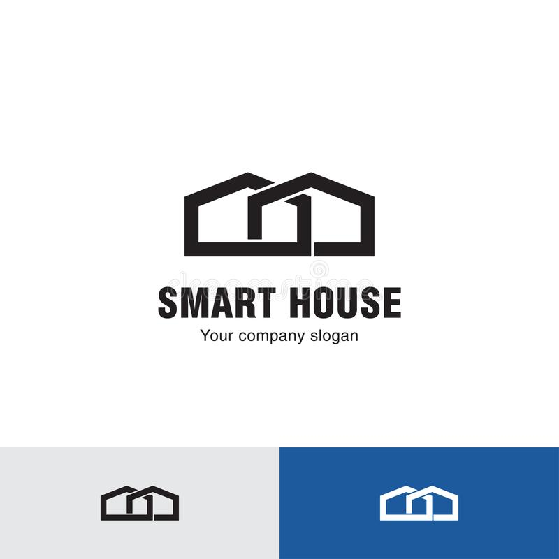 Prosty linia domu logo ilustracji