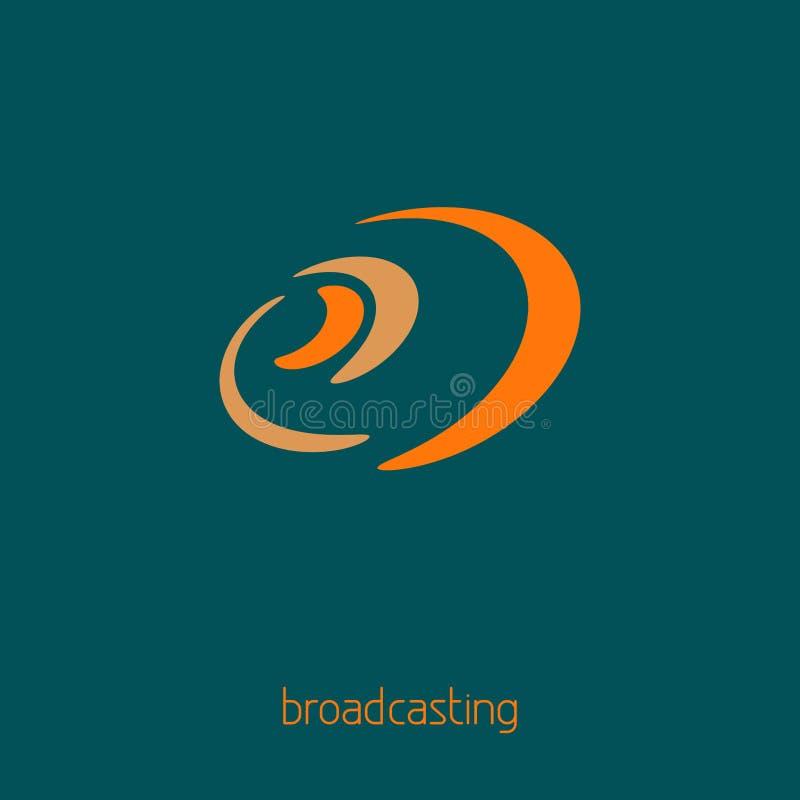 Prosty logo dla dj, środki, komunikacje, społeczność, dystrybucja ilustracja wektor