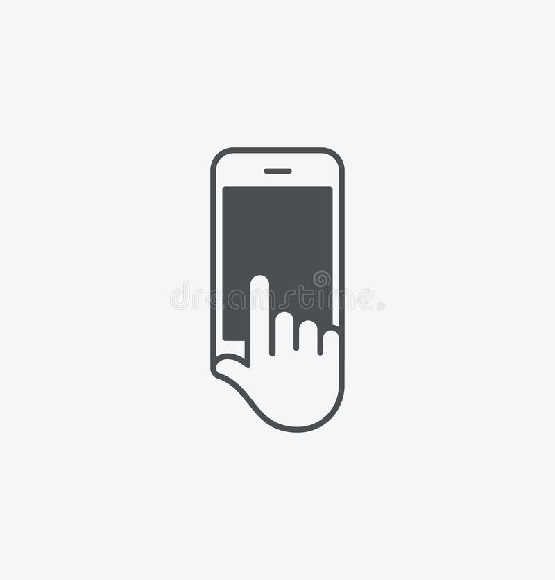 Prosty mądrze telefon w ręki ikonie na białym tle Prosty mądrze telefon w ręki ikonie EPS8 ilustracji