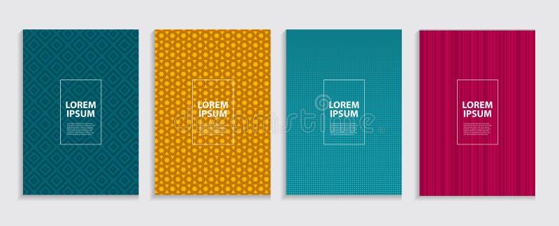 Prosty Minimalny pokrywa szablonu projekt Przyszłościowy Geometryczny wzór royalty ilustracja