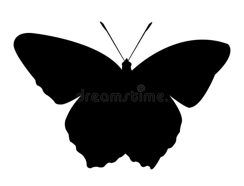 Prosty motyli sihouette dla edukaci zdjęcia stock