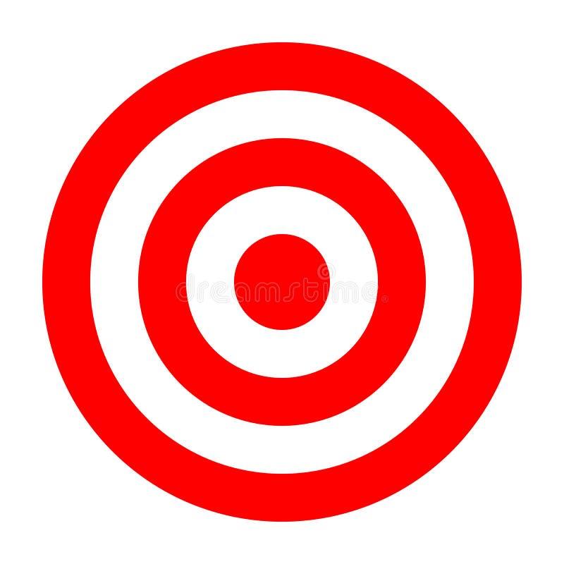 Prosty okręgu celu szablon Bullseye symbol ilustracji