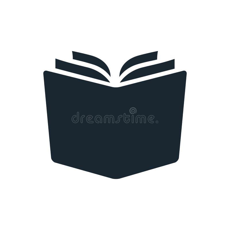 Prosty otwiera książkową wektorową ikonę Pojedynczy koloru projekta elementu isolat royalty ilustracja