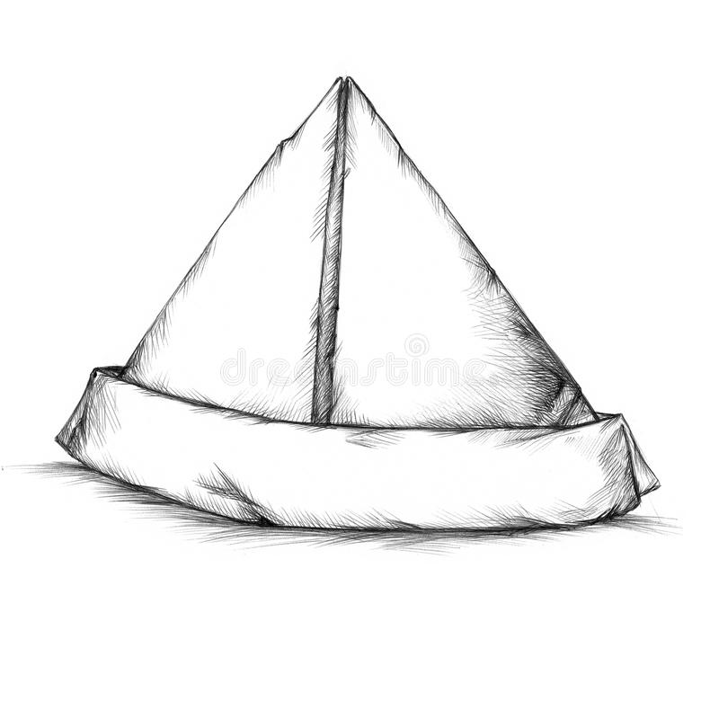 Prosty papierowy kapelusz royalty ilustracja