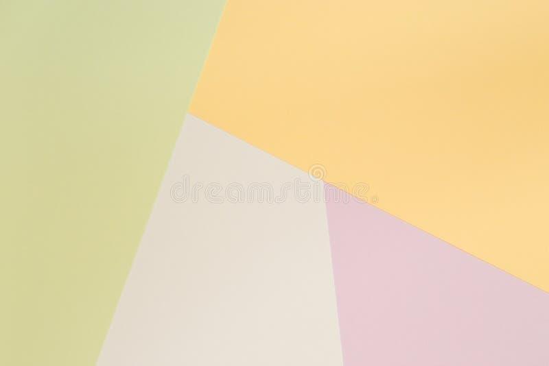 Prosty Pastelowy Barwiony tło zieleń, kolor żółty, błękit i purpury, ilustracja wektor