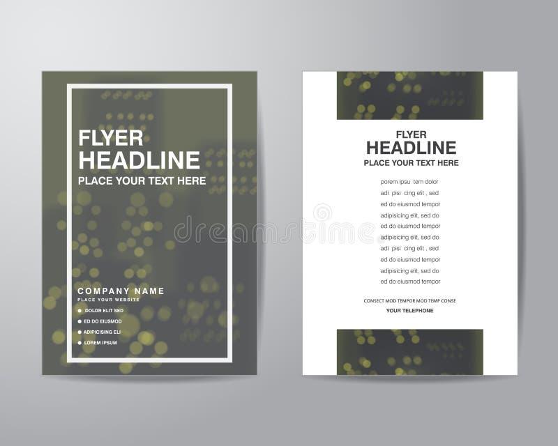 Prosty plamy tła broszurki ulotki projekta układu szablon wewnątrz royalty ilustracja
