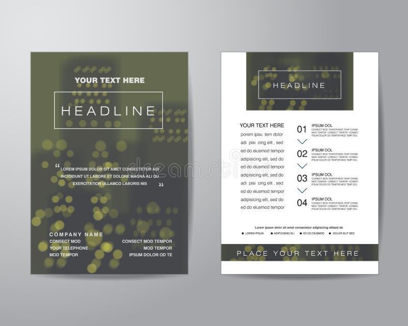 Prosty plamy tła broszurki ulotki projekta układu szablon wewnątrz ilustracja wektor