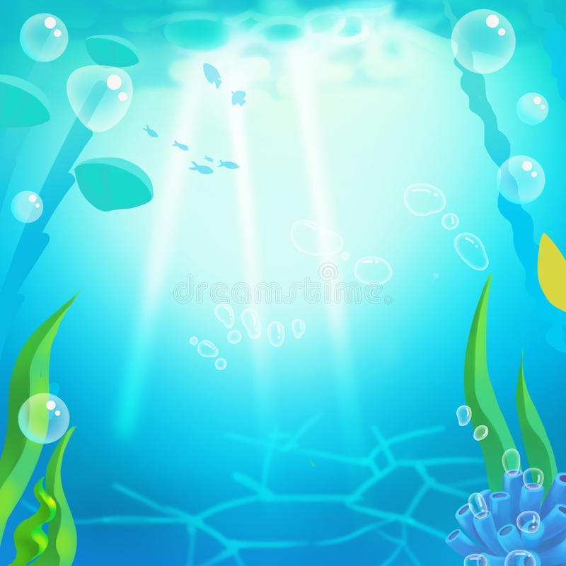 Prosty Podwodny tło ilustracja wektor
