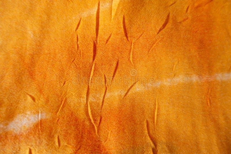 Prosty, pomarańczowy chiffon cienki materiał bezpośrednio obrazy royalty free
