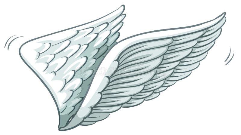 Prosty rysunek skrzydła royalty ilustracja