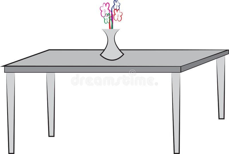 Prosty rysunek stół ilustracji